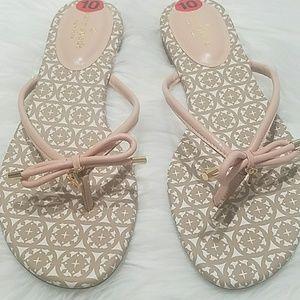 Kate Spade  Mistic Bow Flat Sandals NWOT